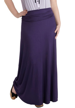 Day at Sea Skirt in Purple - Plus Size