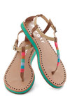 Book-Binding Bash Sandal - Flat, Tan, Multi, Solid, Casual, Summer