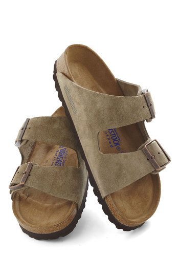 Strappy Camper Sandal in Taupe by Birkenstock - Flat, Grey, Brown, Solid, Buckles, Casual, Summer, Variation, Travel
