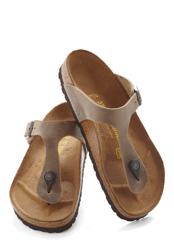 Garden Consultation Sandal in Brown by Birkenstock - Leather, Tan, Solid, Flat, Spring, Summer, Travel