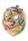 Carried by the Wind Scarf - Print, Multi, Tan / Cream
