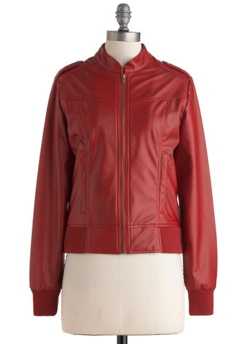 Every Jacket Has Its Jill in Burgundy by Jack by BB Dakota - 2, Red, Solid, Pockets, Long Sleeve, Menswear Inspired, Urban, Short, Fall, Winter
