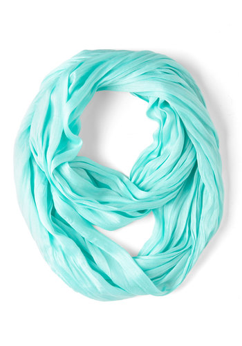 Brighten Up Circle Scarf in Sky - Mint, Solid, Minimal, Pastel, Variation, Basic, Fall
