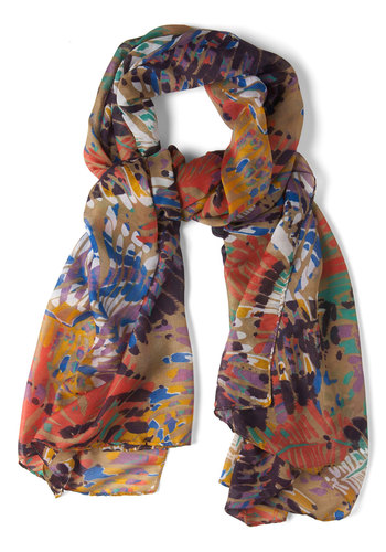Leaf Life Behind Scarf - Multi, Print, Cotton
