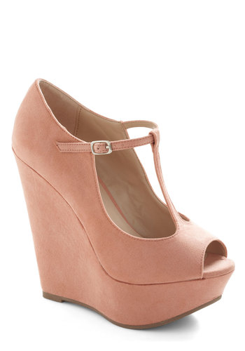 It Malt Be Love Wedge - Pink, Solid, High, Platform, Wedge, Party, Girls Night Out