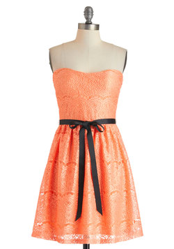 Exquisite Visit Dress in Apricot