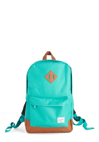 Emerald Waters Backpack by Herschel Supply Co. - Blue, Tan / Cream, Solid, Travel, Scholastic/Collegiate