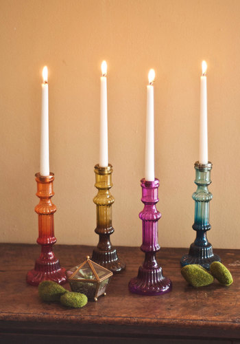 It's Eclectic! Candlestick by Karma Living - Multi, Boho, Vintage Inspired, Ombre, Good, Holiday, Top Rated, Press Placement