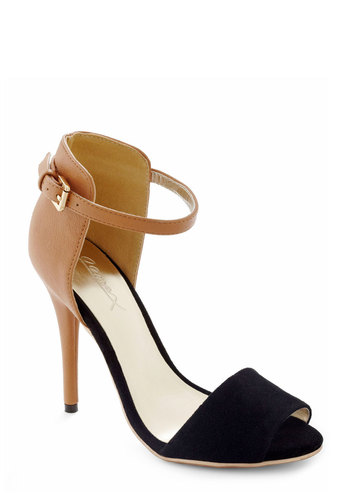 Black Walnut Heel - Tan, Black, Colorblocking, High, Party, Girls Night Out, Variation