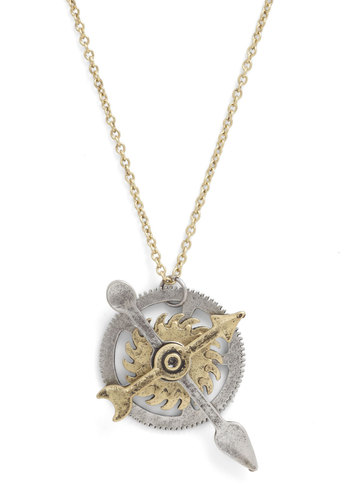 Cog and Effect Necklace - Solid, Silver, Gold, Steampunk