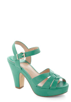 Young and Bold Heel in Turquoise