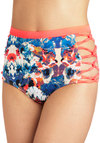 Lucid Daydreams Swimsuit Bottom - Multi, Floral, Cutout, High Waist, Beach/Resort, Summer
