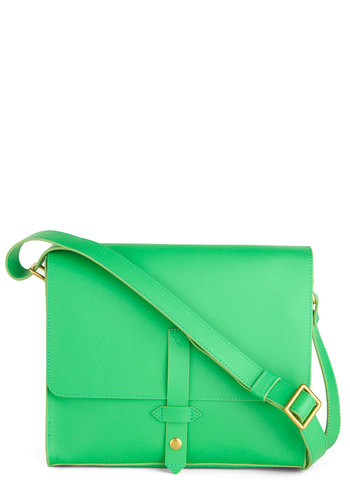 Floored by Florence Bag - Green, Solid, Neon, Leather, Work
