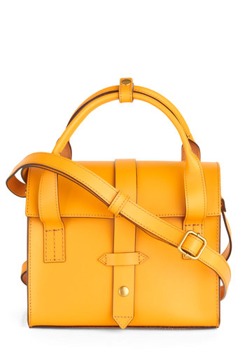 Juice Run Bag - Yellow, Solid, Scholastic/Collegiate, Leather, Luxe
