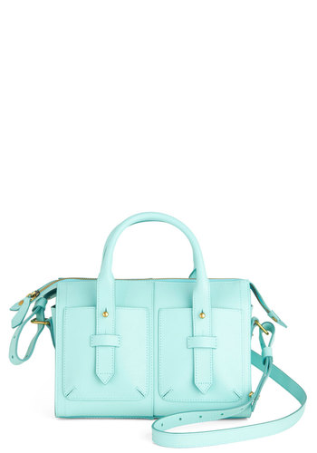 See Eye to Sky Bag - Mint, Solid, Leather, Pastel, Work