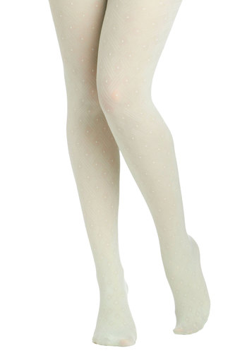 Fairy Dot-Mother Tights in Mint - Mint, White, Polka Dots, Pastel