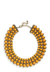 The Sun's Energy Necklace - Yellow, Solid, Beads, Statement, Rhinestones