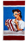 Sand My Regards Beach Towel in 1939 - Nautical, Multi, Vintage Inspired, Beach/Resort, 30s, Summer, Travel