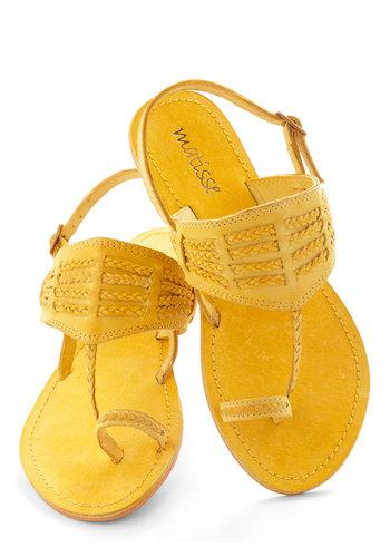 Walking on Fun-shine Sandal
