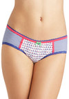 Along We Go Undies - Stripes, Bows, Lace, Trim, Nautical, Cotton, Multi, Blue, White, Novelty Print