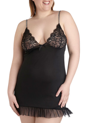 In a Fairytale Nightgown and Thong Set in Plus Size