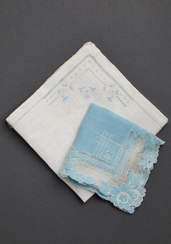 Vintage Blue Become One Handkerchief Set