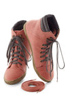 Busk in the Glory Sneaker in Rose - Pink, Grey, Casual, Urban, Flat, Lace Up, Menswear Inspired, Travel