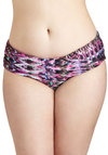 Breeze from the Balcony Swimsuit Bottom in Plus Size - Multi, Print, Beach/Resort, Ruching, Summer