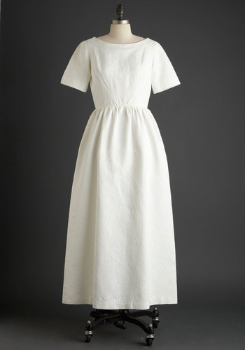 Vintage The Bride Wore Blossoms Dress