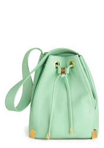 Bucket List Bag - Green, Solid, Leather, Luxe, Pastel