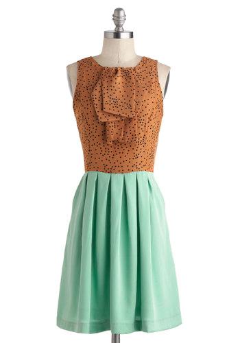 Feeling Mint Chocolate Chipper Dress