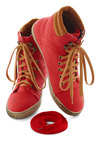 Busk in the Glory Sneaker in Red - Red, Tan / Cream, Casual, Urban, Flat, Lace Up, Menswear Inspired, Travel