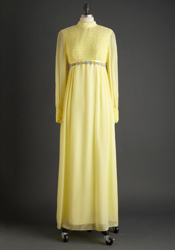 Vintage Sunny Ceremony Dress