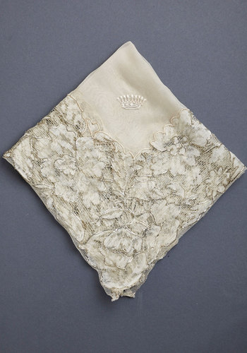 Vintage Floating on Heirloom Handkerchief