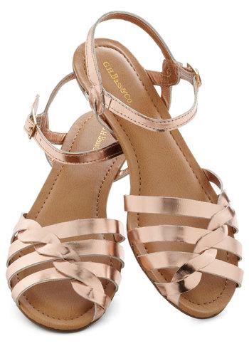 Let's Twist Sandal in Rose Gold