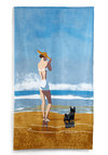 Sand My Regards Beach Towel in 1937 - Nautical, Beach/Resort, Multi, Vintage Inspired, 30s, Summer, Travel