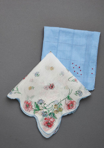 Vintage Sentimental Scene Handkerchief Set