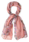 Be in the Pleasant Scarf - Pink, Multi, Floral, Pastel, Woven