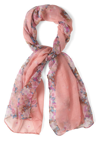 Be in the Pleasant Scarf - Pink, Multi, Floral, Pastel