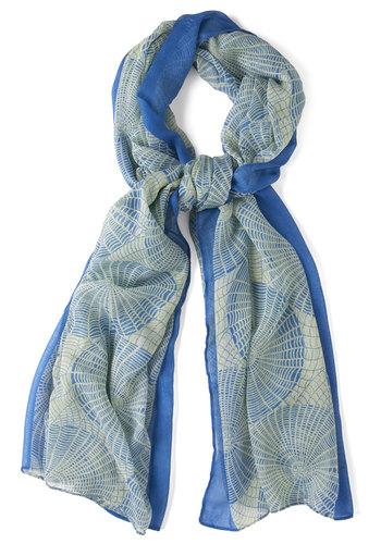 Orbit of Sapphire Scarf - Blue, Print, Spring