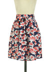 Springtime in Your Step Skirt - Mid-length, Multi, Red, Blue, Floral, Daytime Party, A-line, Pockets, Belted, Spring