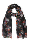 Dome Grown Scarf in Black - Black, Multi, Floral, Novelty Print, Winter