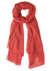 Wish Upon a Scarf - Coral, Grey, Print, Winter