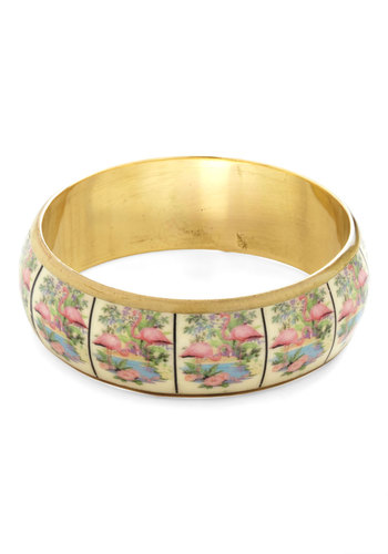 Unique at the Boutique Bracelet - Multi, Gold, Print with Animals, Casual, Daytime Party, Beach/Resort, Vintage Inspired, Summer