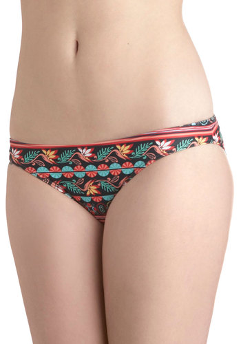 Brunch on the Beach Swimsuit Bottom - Black, Multi, Floral, Beach/Resort, Summer