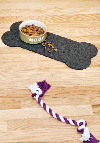 Bone Appetit Pet Place Mat - Black, Quirky, Eco-Friendly, Good