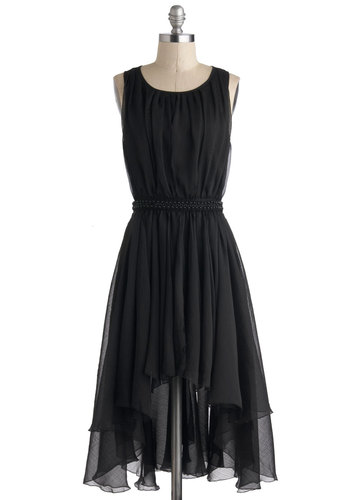Dance Hall Night Long Dress - Short, Black, Solid, Beads, Lace, Cocktail, A-line, Tank top (2 thick straps), Scoop, Vintage Inspired, Prom