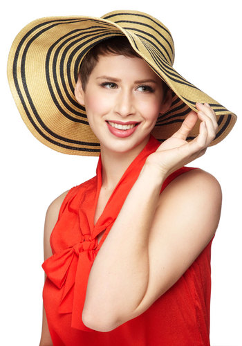 Go with the Ebb and Flow Hat - Tan, Black, Stripes, Woven, Daytime Party, Beach/Resort, Spring, Summer, Nautical