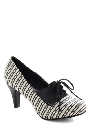 Not Just Black and Stripe Heel