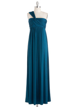 Demeter Maxi Dress in Peacock Blue